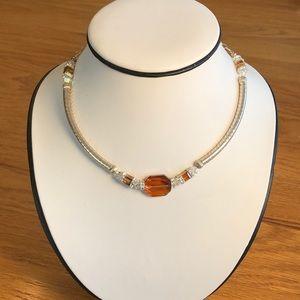 Beautiful handmade Swarovski crystal necklace.